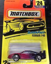 MATCHBOX SUPERFAST FERRARI F40 #24 PINK PURPLE