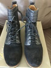 """NAYA """"Agave"""" Distressed  Leather Ankle Boots Booties - Size 9M"""