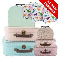 Set of 3 Mini Suitcases Vintage Floral Kids Storage Boxes Retro  - Sass & Belle