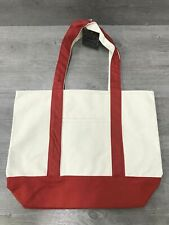 Home Concepts Cotton Canvas Carry All Tote Bag Canvas Red