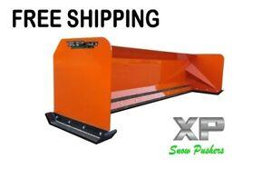8' XP30 KUBOTA ORANGE SNOW PUSHER - Skid Steer Loader - FREE SHIPPING