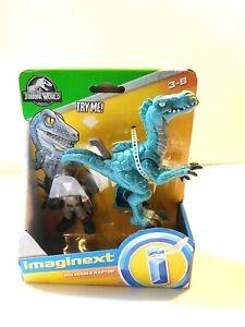 Fisher Price imaginext Muldoon & Raptor Jurassic World Dinosaur Toy New