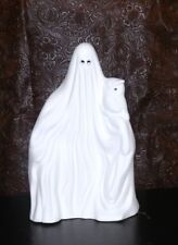 HALLOWEEN Ghost holding OWL Spook LIGHT Up *Ceramic Bisque Ready to Paint