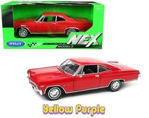 Welly 1:24 NEX 1965 Chevrolet Impala SS 396 Diecast Model Car Red 22417