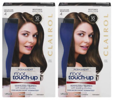 (Pack of 2) Clairol Root Touch-Up Permanent Hair Color Creme - 4 - Dark Brown