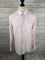 REISS Shirt - Size Medium - Striped - Linen Blend - Great Condition - Men's