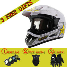 Rockstar Motorcycle Full Face Mountain Bike Helmet  Racing Off Road High Quality