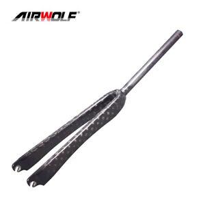 """12K 700C Road Bike Full Carbon Fiber Forks 1"""" Straight Bicycle Fork Threadless"""