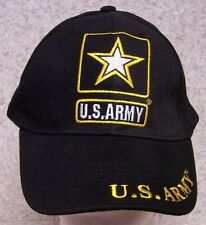 Embroidered Baseball Cap Military Army Star Emblem NEW 1 hat size fits all black