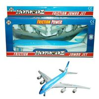 Large 42cm Friction Jumbo Jet Air Plane Plastic Model Toy Kids Aeroplane Push