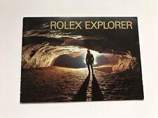 Pre-owned Original Rolex Explorer Booklet Ref. 597.96 English