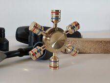 Latón Macizo 107 gramo intranquilo Spinner, extraíble 6 Alas, Rueda Hexagonal,