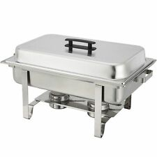 Stainless Steel Chafer 8 qt Chafing Dish Server Party Buffet Serve Food Warmer