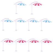 10 Model Sun Umbrella Parasol Train Railway Beach Garden Scene 1/150 N Scale