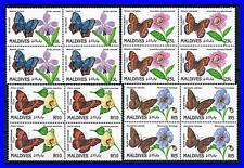 MALDIVES 1991 BUTTERFLIES part 1 in BLOCKS 4 MNH CV$43.00 INSECTS (K-LM-DEC)