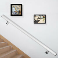 Aluminum Modern Handrail for Stairs Stair Rail 3ft Length White