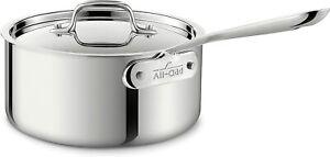 All-clad Tri-Ply Stainless 1-qt, 2-qt, 3-qt, 3.5-qt ,4-qt Sauce Pans Your Choice