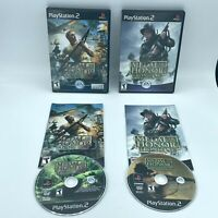 Medal of Honor Frontline & Rising Sun (Playstation 2, PS2) WWII Game Bundle CIB