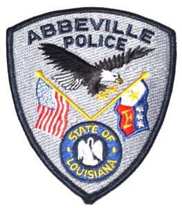 ABBEVILLE LOUISIANA LA Sheriff Police Patch STATE SEAL PELICAN FLAG EAGLE ~