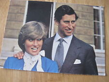 POSTCARD H.R.H THE PRINCE OF WALES & LADY DIANA SPENCER ENGAGEMENT