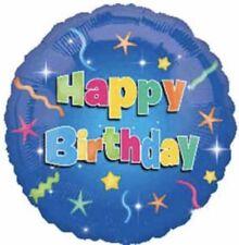 "18"" Amscan Happy Birthday Star Foil Helium Balloon"