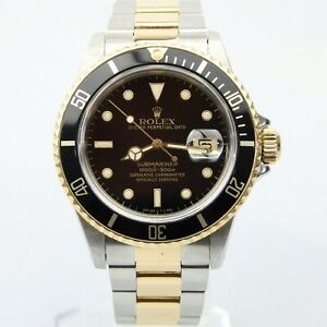 Rolex 16613 Submariner Date Steel & 18k Gold - Black Dial - Box & Papers 1986