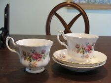 ROYAL ALBERT MOSS ROSE 2 CUPS AND 2 SAUCERS
