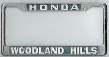 SUPER RARE Woodland Hills Honda JDM Vintage Metal Dealer License Plate Frame