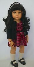 "Gotz Hannah doll 18"" black hair & hazel eyes"