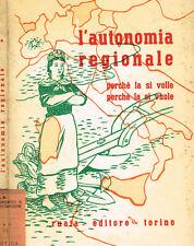 L'AUTONOMIA REGIONALE