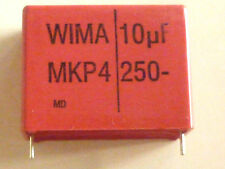 WIMA 1 Nidades MKP4 Condensador radial 10µF 250V DC - RM37,5 - 10uF - NEW