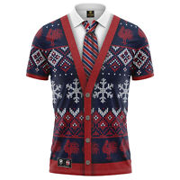 Sydney Roosters NRL 2021 Xmas Polo T Shirt Sizes S-5XL!