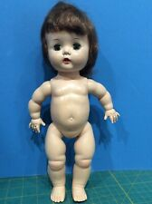 "Vintage 1950's hard plastic 12"" walker Doll mkd. Pat. Pend. Nude, Dress Me."