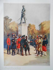 Antiquarian Indian Army Print (1911) Corps Present at the Seige of Delhi, 1857