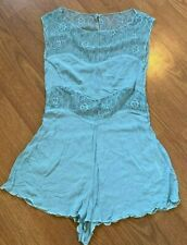 INTIMATELY FREE PEOPLE ROMPER LACE SLEEVELESS KEY HOLE LINGERIE BLUE SIZE XS *R
