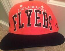 Vintage Philadelphia Flyers Snapback Hat Cap Orange And Black
