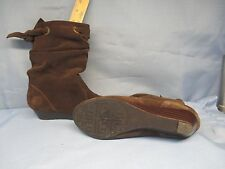 Womens Shoes WHITE MOUNTAIN Size 5 M BROWN SUEDE BROOKLYN BOOTS EXC