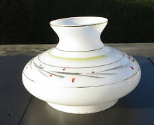 """Small Retro Decorated White Glass Vesta Style Lamp Shade 126mm fitter approx 5"""""""