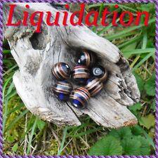 10 Perles de verre Lampwork 14,5 mm +/-