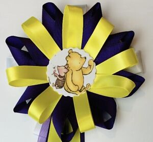Baby Shower Corsage Winnie The Pooh Mom To Be Purple Yellow