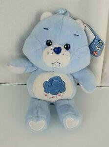"""Care Bears Grumpy Bear 8"""" Bean Bag Plush 2002 Play Along TCFC NEW"""