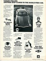 1975 Print Ad Chevrolet Chevy Camaro Another Step Closer To The Hassle Free Car