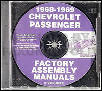 1968 1969 Chevy Assembly Manual CD SS Impala Caprice Bel Air Biscayne Chevrolet