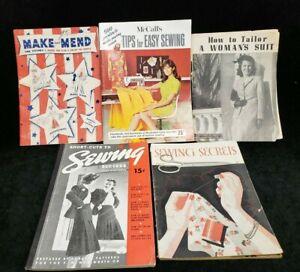 Vintage Lot Sewing Instruction Books 1937-1968 Era Tips Secrets & Short-Cuts