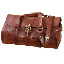 Leather Grip Brown Travel Bag Carry on Luggage Weekender Duffle USA Made No. 1