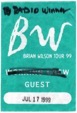 Brian Wilson (Beach Boys) 1999 Tour Backstage Pass