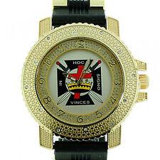 Masonic Knights of Templar Watch In Hoc - Black w/ Silicone Band York Rite Mason
