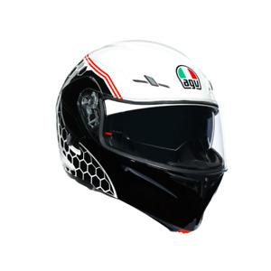 AGV Compact-ST Detroit Flip Front Motorbike Motorcycle Helmet - White / Black