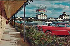Motel Auberge du Blvd Laurier, Old Cars, Quebec City Canada, Post Card, Postcard