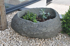 NATURSTEIN Steintrog Wassergrand Granit-Findling Pflanztrog Garten-Steinbrunnen